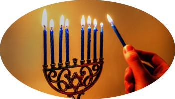Chanukah lights